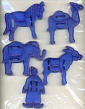 Vintage Circus Animals Cookie Cutters