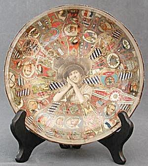 Cigar Band Folk Art Glass Bowl (Image1)