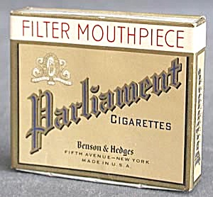 Vintage Parliament Cigarette Box