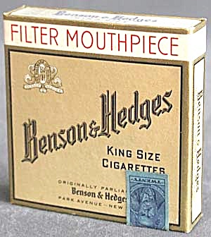 Vintage Benson & Hedges Cigarette Box