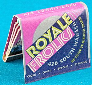 Vintage Royale Frolics Matchbook