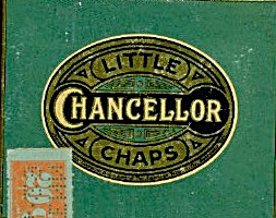 Little Chancellor Chaps Cigars Metal Box