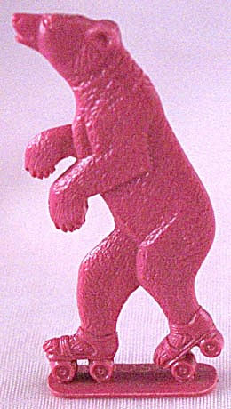 Cracker Jack Toy Prize: Bear On Roller Skates