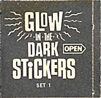 Cracker Jack Toy Prize: Glow In The Dark Stickers (Image1)