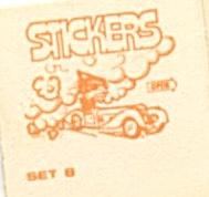 Cracker Jack Toy Prize:Stickers (Image1)
