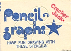 Cracker Jack Toy Prize: Pencil Graphics