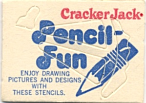 Cracker Jack Toy Prize: Pencil Fun