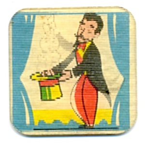 Cracker Jack Toy Prize: Tilt Card Magician