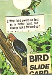 Cracker Jack Toy Prize: Bird Slide Card