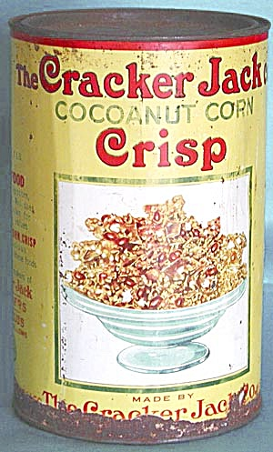 Vintage Cracker Jack Coconut Corn Crisp Tin (Image1)