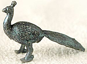 Cracker Jack Toy Prize: Metal Peacock (Image1)