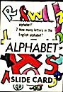 Cracker Jack Toy Prize: Alphabet Slide Card