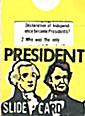 Cracker Jack Toy Prize: President Slide Card (Image1)