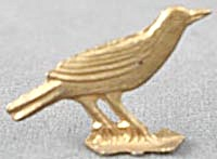 Cracker Jack Toy Prize: Metal Bird (Image1)