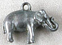 Cracker Jack Toy Prize: Metal Elephant Charm (Image1)
