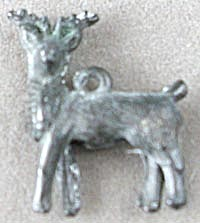 Cracker Jack Toy Prize: Metal Stag Charm