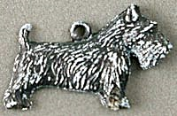Cracker Jack Toy Prize: Metal Scottie Charm