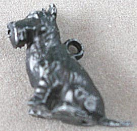 Cracker Jack Toy Prize: Metal Sitting Scottie Charm