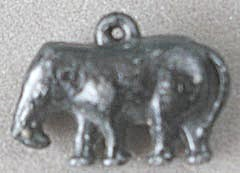 Cracker Jack Toy Prize: Metal Elephant Charm