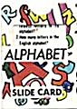 Cracker Jack Toy Prize: Alphabet Slide Card (Image1)