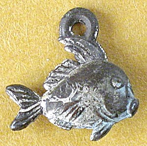 Cracker Jack Toy Prize: Metal Fish Charm