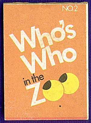 Cracker Jack Toy Prize: Whos Who In The Zoo #2