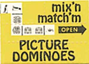 Cracker Jack Toy: Mix'n & Match'm Picture Dominoes Mint (Image1)