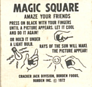 Cracker Jack Toy Prize:Magic Square (Image1)
