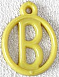 Cracker Jack Toy Prize: Alphabet Fob B (Image1)