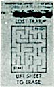 Cracker Jack Toy Prize: Lift To Erase Maze