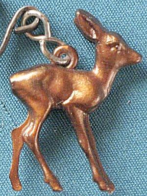 Vintage Celluloid Deer Charm (Image1)