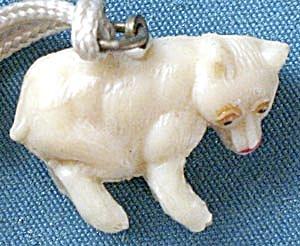 Vintage Celluloid Bear Charm (Image1)