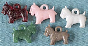 Vintage Scotties Charms Set Of 5