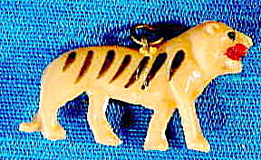 Vintage Celluloid Tiger Charm