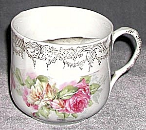Vintage Wild Roses Mustache Cup (Image1)
