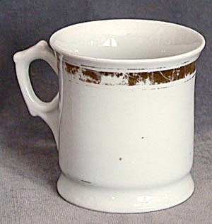Antique White with Gold Band German Shaving Mug (Image1)