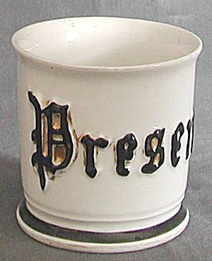 Antique Present Shaving Mug (Image1)