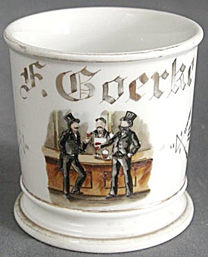 Rare Occupational Porcelain Shaving Mug Bartender