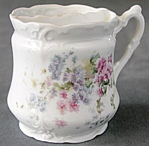 Vintage Shaving Mug with Pink & Blue Asters (Image1)