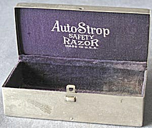 Vintage Auto Strop Safety Razor Chrome Box