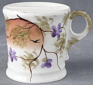 Vintage Floral Shaving Mug With Birds