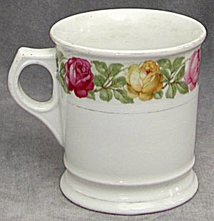 Vintage German Shaving Mug with Multi Colored Roses (Image1)