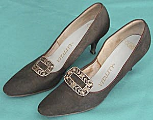 Vintage Ladies Black Pumps by Vitality (Image1)
