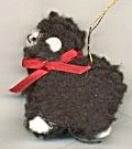Tiny Wooly Lamb Christmas Ornament