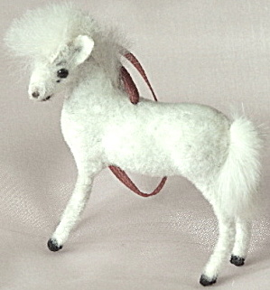 Wagner Kunstlerschutz Flocked Pony Ornament