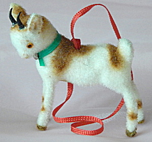 Wagner Kunstlerschutz Flocked Goat Ornament