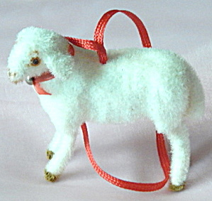 Wagner Kunstlerschutz Flocked Lamb Ornament