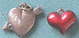 Vintage Metal Heart Charms