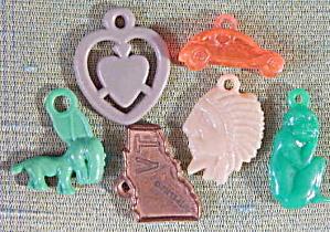 Vintage Plastic Charms Set of 6 (Image1)
