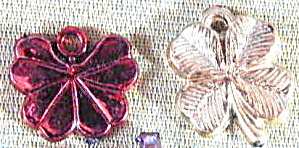 Vintage Plasticl Charms Set Of 2